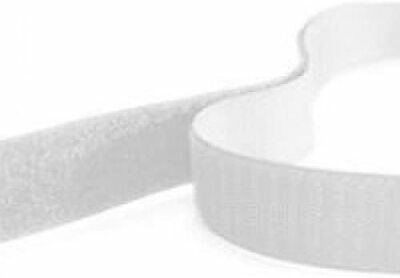 20mm wide, White, Self Adhesive Hook and Loop Tape, Strong, Sticky Back