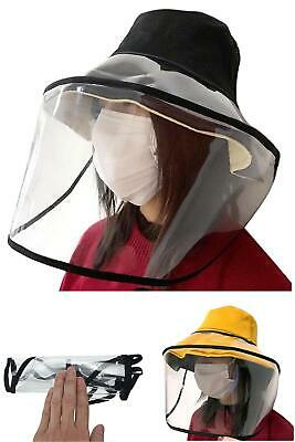 Fisherman Hat Clear Mask Removable Protective Cap Anti-fog Full Face Outdoor
