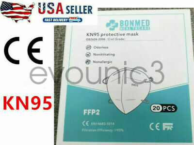 10 Pack KN95 Face Mask Cover Protection Respirator Masks K N95