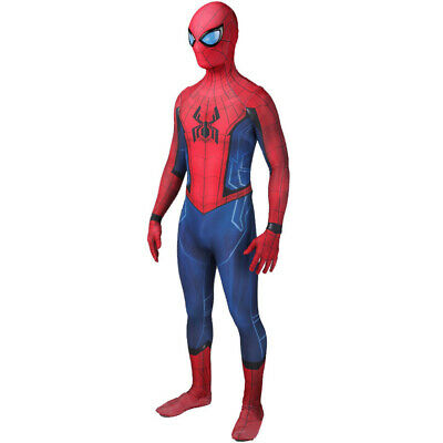 Details about  /The Amazing Spider-Man 2 Peter Parker Cosplay Costume Jumpsuit Mask Full Set