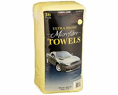 36 x Kirkland Signature 40c Ultra Plush Microfibre Towels Soft Cloth(Pack of 36)