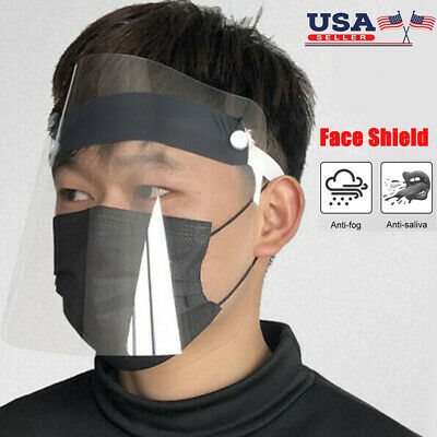 2-10PC Safety Full Face Shield Reusable Washable Protection Cover Face Protector