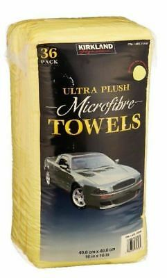 36 Pack Kirkland Eurow 40cm Microfibre Super Plush Ultra Soft Towels Pack of 2