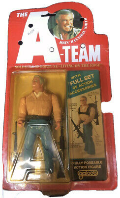DAMAGED A Team The Face Action Figure On Card MOC Galoob Extremely Rare
