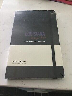 Moleskine Notebook, Limited Edition, LousianaTravel.com, Black-Large New