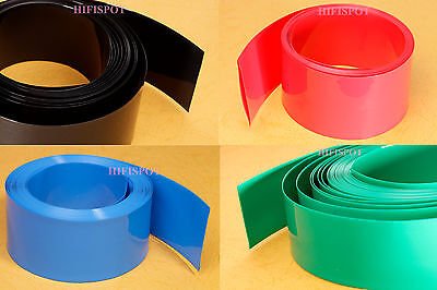 PVC HEAT SHRINK TUBING TUBE Φ24mm in round 26FT Flat wide 38mm