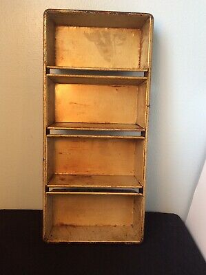 Chicago Metallic 91-4 Bakery 4 Strap Section Bread Loaf Baking Pans