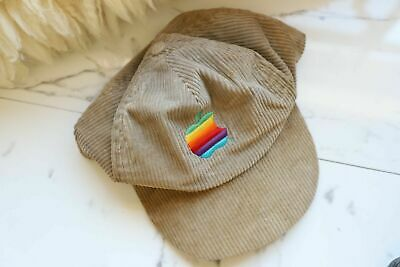 Vintage Apple/Macintosh Corduroy Trucker Hat Flat Brim