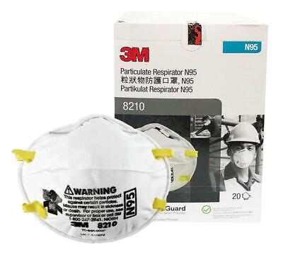 3M™ 8210 N95 Particulate Respirator Mask (Box of 20) 04/2025 NEW WITH BOX