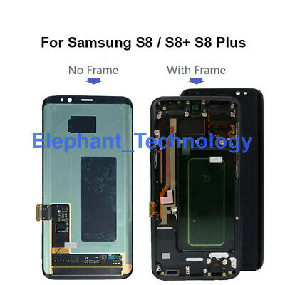 QC For Samsung S8 S8+ S8 Plus G955 LCD Touch Screen Digitizer + Frame LOT