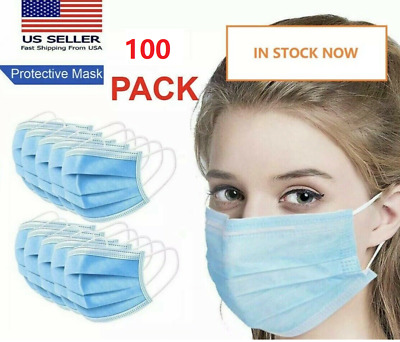 50 PCS Face Mask Mouth & Nose Protector Respirator Masks SHIP IN USA