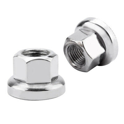 6Pair Stainless Steel Bike Nuts MTB Flange Nut Bicycle Axle Track Nut Parts M10
