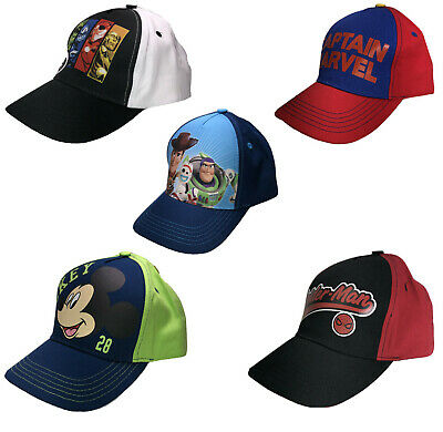 Kids Hat Cap Superhero Disney Marvel Spiderman Avengers Mickey Mouse Toy Story