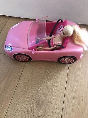 Barbie Glam Pink  Convertible Car - Mattel 2010 With Barbie Doll