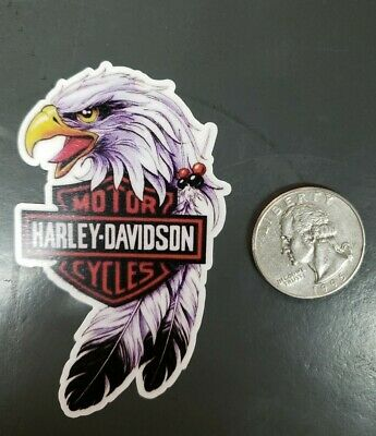 Harley-Davidson vintage style motorcycle decals sticker. Eagle with logo .