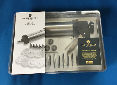 Unused Kitchencraft MASTERCLASS Icing & Biscuit Cookie Cup Cake Decoration Set
