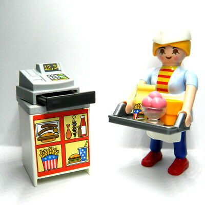 Playmobil Easter Egg 70084 Diner Waitress With Counter Cafe Kid/'s Gift Toy RARE