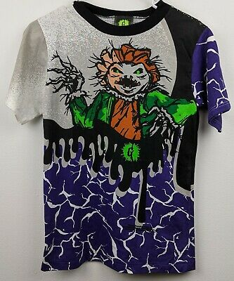 Vintage 90s Goosebumps The Scarecrow All Over Print T Shirt Youth L Very Rare