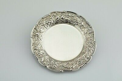 S. Kirk & Son Sterling #17 Repousse Individual Butter Pat Nut Dish