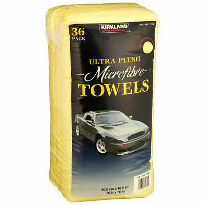 2 x Kirkland Signature 36 Pack Ultra Plush Microfibre Cleaning Cloth Towels (72)