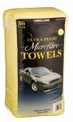 2 X New 36 Pack Kirkland 40cm Microfibre Super Plush Ultra Soft Cloth Towels