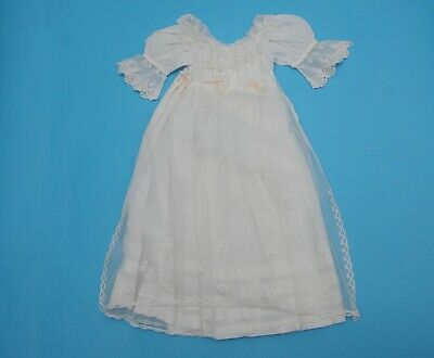 Antique Baby Christening Gown with Honiton lace apron (N127)