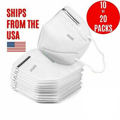 [10 PACK] KN95 Protective 5 Layers Face Mask BFE 95% PM2.5 Disposable Respirator
