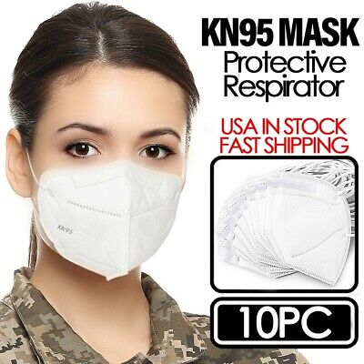 KN95 Disposable Protective Face Mask Respirator (10 PCS) PM2.5 5Layer Breathable