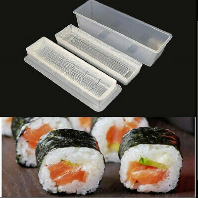 3pcs Sushi Maker Kit Rice Roll Mold Kitchen DIY Easy Chef Mould Roller Tool ^ KP
