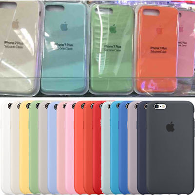 UltraThin Original Genuine Silicone Leather Case For iPhone 7 8 SE Xs XR XsMax