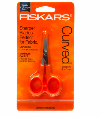 "Fiskars Curved Scissors  4""/ 10cm   New & Sealed"