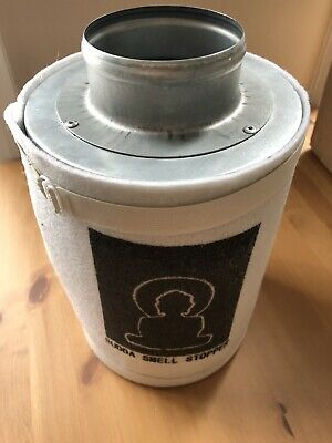 Carbon Filter Buddha Smell Stopper Odour Filter 100 x 250mm New