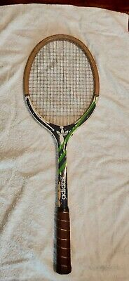 Retro Vintage Adidas County Wooden Squash Raquet With Cover 28 00 Picclick Uk