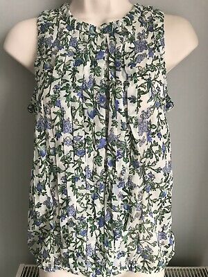 New SFERA CASUAL WOMENS TOP BLOUSE FLORAL PRINT CHIFFON LADIES SIZE S UK 8//10