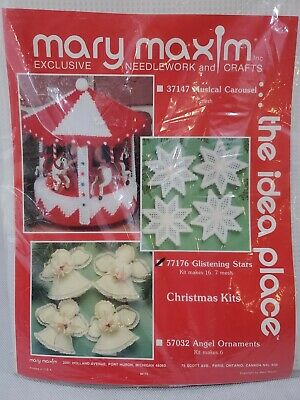 Design Works Beautiful CHRISTMAS STAR QUILT TOTE PURSE Plastic Canvas KIT