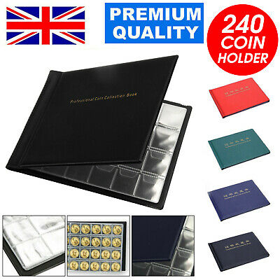 240 Album Coin Book Money Collecting Collection Storage Penny Case Holder Folder