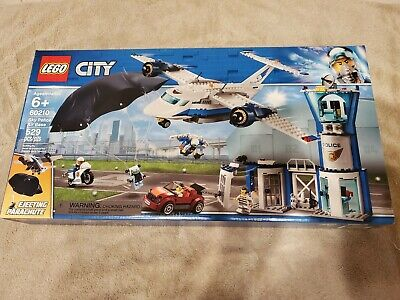 New in Box Lego City Sky Police Air Base with Ejecting Parachute 529pcs 60210
