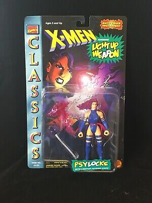 X-Men Classics PSYLOCKE Toy Biz Action Figure Marvel Comics Light up Weapon