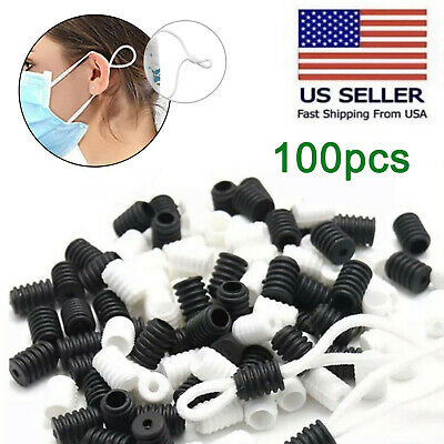 100pc Rope Ends Diy Cord Locks Round Silicone Stopper Adjuster