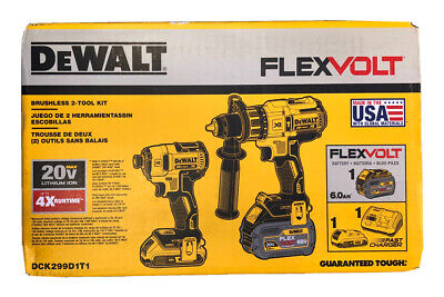 Dewalt Dck299d1t1 Flexvolt 60v 20v Max Lithium Ion Cordless Brushless Combo New 295 00 Picclick