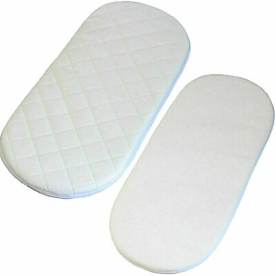 Baby Moses Pram Basket Mattress Oval Super Soft Extra Thick Comfy Cushy Quilted