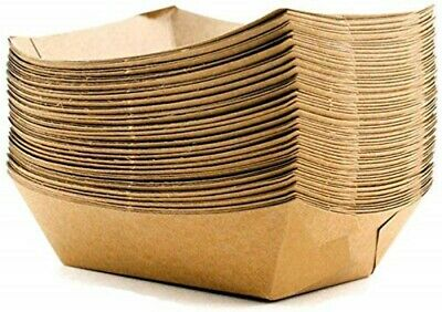 400ml Brown Biodegradable Paper Food Trays [400ml to 1300ml]