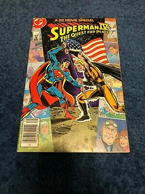 5.5 1987 Stock Image Low Grade Superman IV Movie Special #1 FN