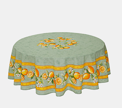 """NWT FRENCH PROVENCAL COTTON 71/"""" ROUND TABLECLOTH TISSUS TOSELLI MADE IN FRANCE"""