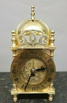 Quality Mechanical Smiths Brass Lantern Style Clock