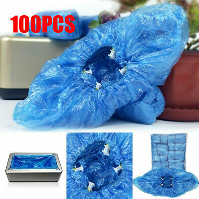 Indoor Carpet Floor Protection,One Size Fits Most. 100pcs Waterproof Shoe /& Boot Covers No Slip Resistant Balacoo Shoe Covers Disposable Workplace PE Overshoes for Construction