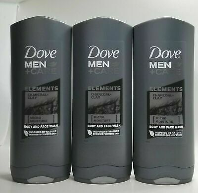 Dove Men Care Elements Body And Face Bar Charcoal Clay 4 Oz Bars X8 For Sale Picclick