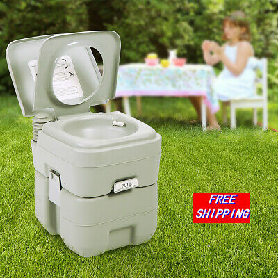 Toilet Flush Travel Camping Portable Commode Potty Outdoor/Indoor 5 Gallon 20L