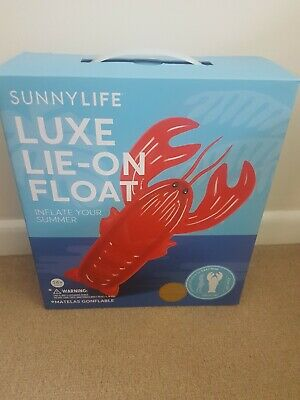 sunnylife luxe lie-on float inflatable lobster