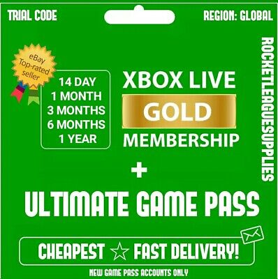 Xbox Live Gold & Game Pass Ultimate (14 Day, 1, 3, 6 Month, 1 Year) FAST SEND